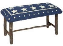 Rustic Bench - Blue Star Top